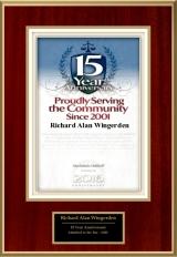 serving community 15 years logo